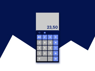 Daily UI #004 calculator challenge icon design dailyui app ux ui
