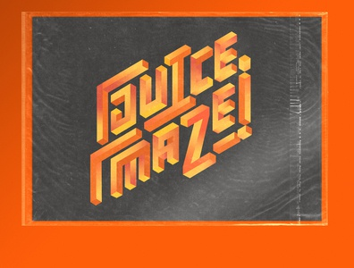 Juice Maze - Version 2 texture vector typography branding logotype lettering illustration design