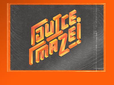 Juice Maze - Version 2 texture vector typography branding logotype lettering illustration design
