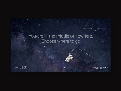 404 page space exploration lost in space stars astronaut space ux ui design 404 page 404 error page 404 error 404