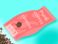 Expresso - Dribbble Coffee packaging design challenge
