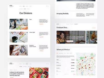 Loblaw Corporate Website 2 best website best design corporation retail ux ui layout clean minimal minimalist corporate identity webdesign web storytelling website design website corporate