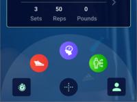 Menu For a Fitness App