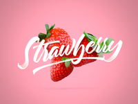 Strawberry Calligraphy