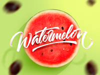 Watermelon Calligraphy