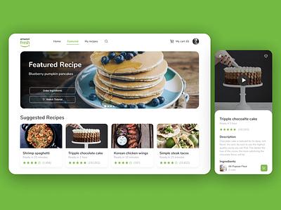 Amazon Fresh Recipe App - Concept ux ui recipe cooking mobile tablet app food