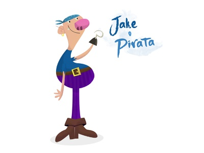 Jake the Pirate illustration charachter design