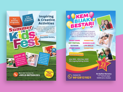 A4 Flyers Featuring Kids Theme