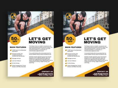 A4 Flyer Featuring Fitness Theme
