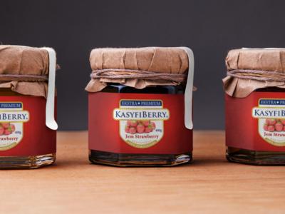 Strawberry Jam Jar Packaging