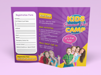 3 Panel Brochure Featuring Kids Theme