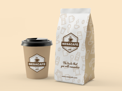 Coffee Cup and Bag Packaging
