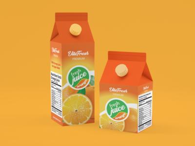 Fresh Orange Carton Packaging Design
