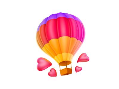 Hot Air Balloon hot air balloon icon cute ui design illustration