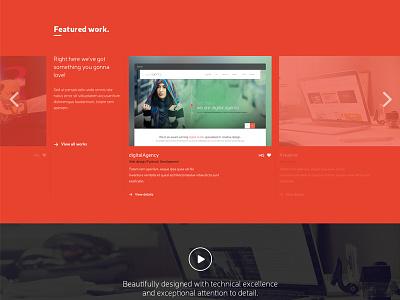 WIP - Sneak Peak sneak peak featured portfolio red bright work slider