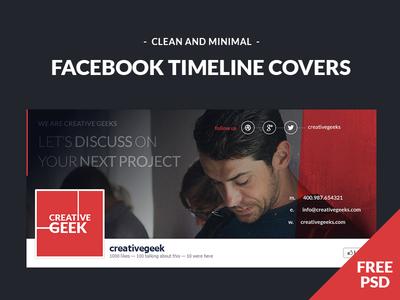 Freebie - Facebook Timeline Covers PSD  facebook facebook timeline covers psd freebie free creative geek dark template
