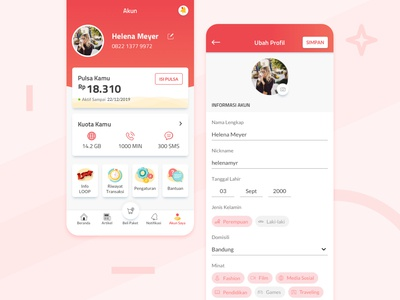LOOPkita App - Profile Page