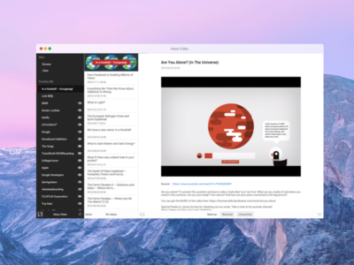 Inbox.Video app web youtube