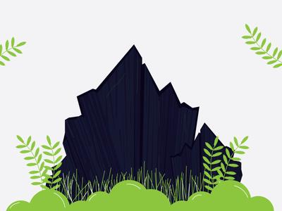 When i have no Idea!!! thinkwithramesh gress plant mountains adobe illustrator illustrations do something no idea tree nature india art colors 2d vector dribbble design illustration