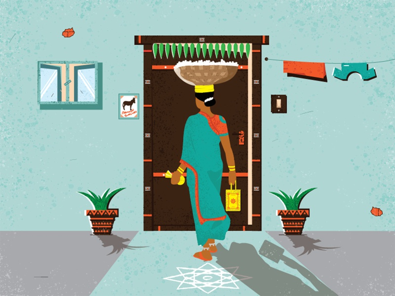 Scent of Flowers home new style website vector ux ui serene scenery rustic lighting india illustration icon flower explainer video design color character design branding beauty