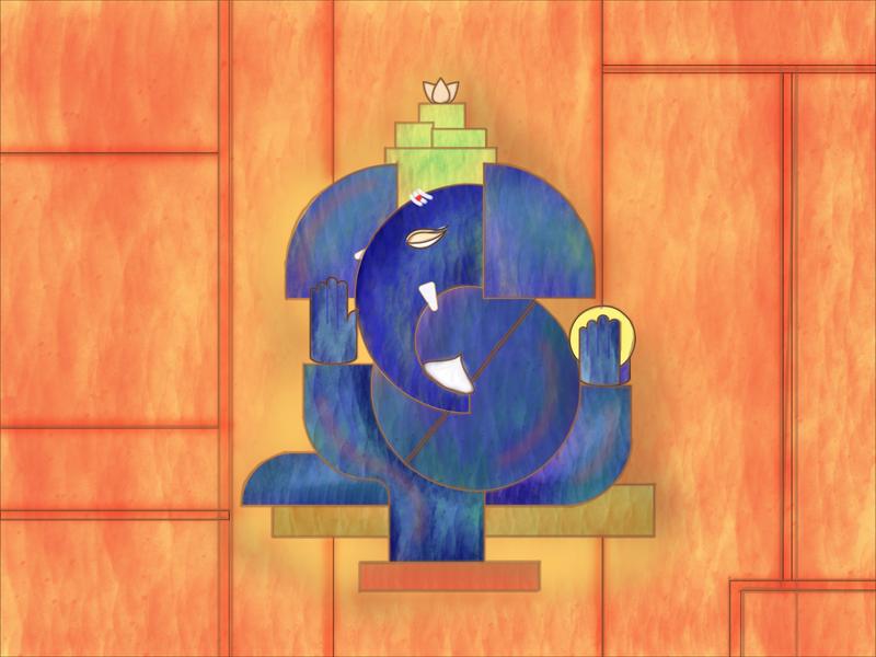 Vinayagar Chathurthi ganapathy ganesha vinayagar chathurthi love giveaway india art colors 2d vector dribbble design illustration