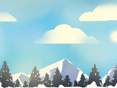 The Pinnacle thinkwithramesh illustrator landscapes mountains trees cloud mist india nature art vector colors love design dribbble illustration