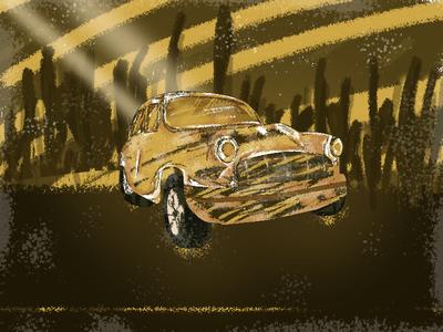 Ambassador concept art thinkwithramesh illustrator light old cars race car love ambassador car branding art india colors 2d vector dribbble design illustration