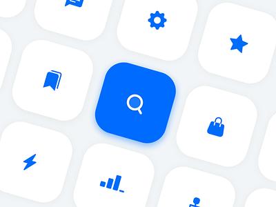 Icon Set illustration logo gradient gradi bluebutton button branding app design design app ui appicon blueicon icon