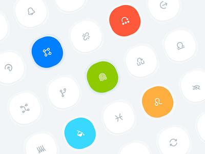 New Icon Set iconset gradienticons icons vector ui ios illustration app design design app gradient