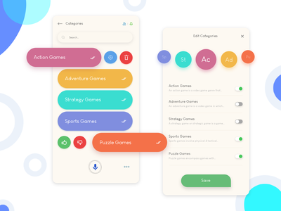 Games - Categories ios vector branding logo illustration app design design ui app gradient