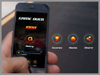 Game Over retry share racing over gameover gaming race game