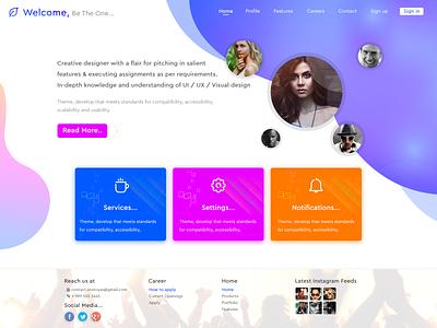 Landing page webdesign website concept design gradient web websites web design webpagedesign website