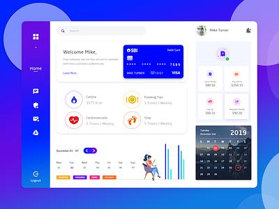 Dashboard Design graph app design design app ui account dashboard chat ios gradient