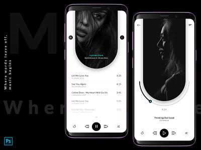 Music Player ios app app design ux music gradient vector logo design ui