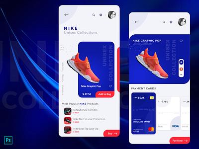 Nike Smart Shoes App Concept application shoes app apple branding app design design ui app gradient nike running shoes nike air max nike air nike