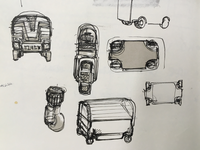 Trash drone sketches