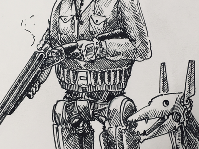 Closeup of a recent sketch