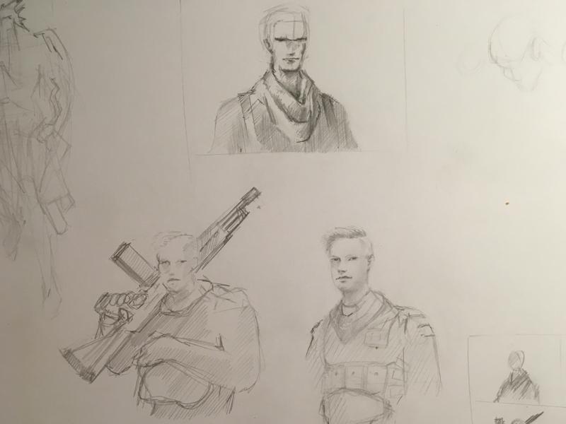 Sketch fortnite character drawing artwork sketch