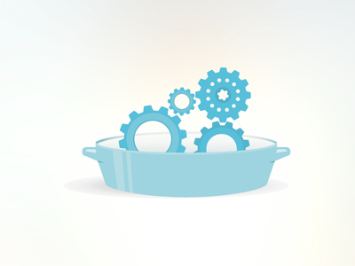 Gears in a dish...