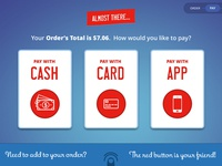 Touch Screen Ordering System Design - Payment