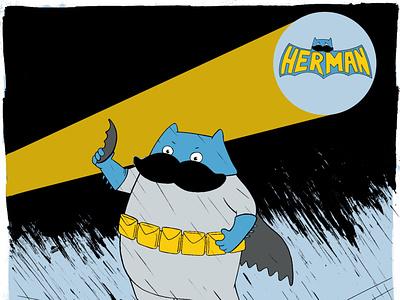 Batman procreate painting character design illustration batman