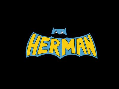 Herman Batman logo procreate painting character design illustration