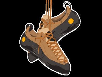La Sportiva Mythos Climbing shoes illustration sketch procreate shoes climbing