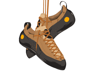 La Sportiva Mythos Climbing shoes illustration sketch procreate shoes climbing