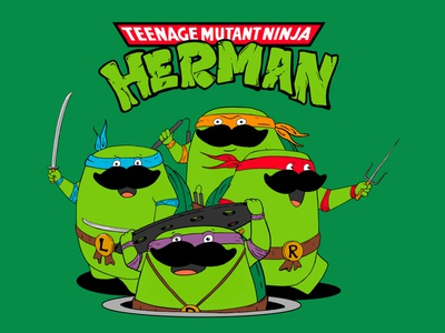 Teenage Mutant Ninja Turtles - Herman comics tmnt turtles inking painting procreate cartoon character design illustration