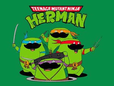 Teenage Mutant Ninja Turtles - Herman comics tmnt turtles inking painting procreate cartoon character design illustration