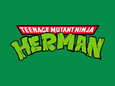 Teenage Mutant Ninja Turtles - Herman Logo comics turtles inking cartoon procreate character design illustration