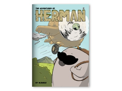 Herman Comic   Front drawing sketch moustache comic inking painting procreate cartoon character design illustration
