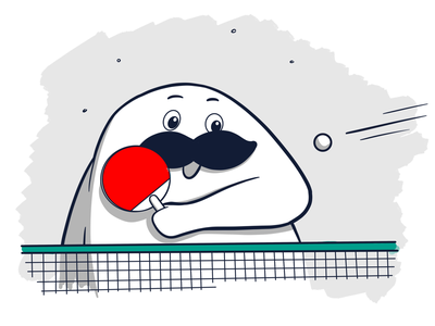 Ping pong procreate drawing illustration ping pong