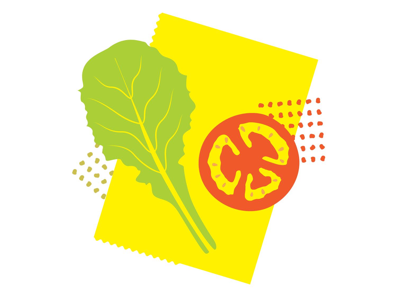 BMQ banhmi natural vegetable food bread typography mark icon packaging illustration vietnamese vector type minimal design